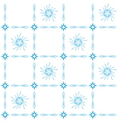 blue seamless tracery on white vector image