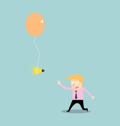 Businessman chasing idea vector