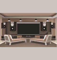 Modern home theater interior vector