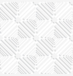 Diagonal white offset squares pattern vector