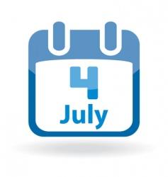 July 4 calendar date vector