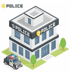 Police department building vector
