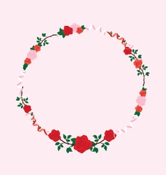 February wreath vector