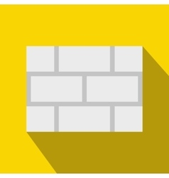Concrete block wall icon flat style vector
