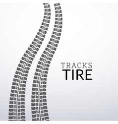 Tire tracks on white isolated elements for vector