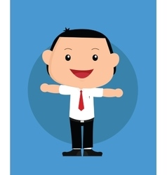Businessman kids vector