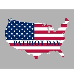Patriot day in the united states vector