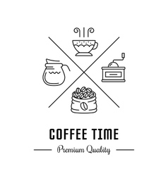 Logo coffee time vector