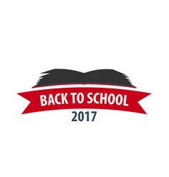 Back to school logo or emblem sale and best vector