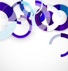Blue rings geometric shapes abstract background vector