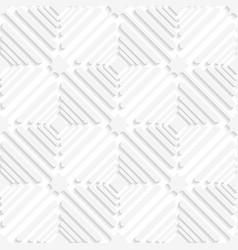 Diagonal white offset squares pattern vector