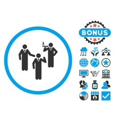 Discussion group flat icon with bonus vector