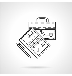 Flat line legal agreement icon vector image