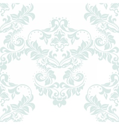 floral damask ornament pattern vector image