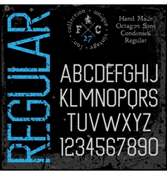 font sans serif condensed vector image vector image
