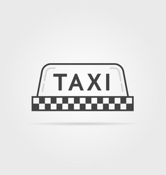 Linear simple taxi sign vector