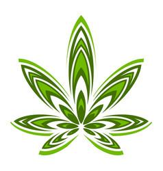 marijuana pot weed leaf vector image