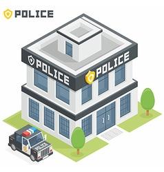 Police department building vector