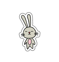 Rabbit doodel icon vector