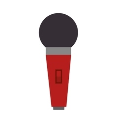 red microphone device vector image vector image