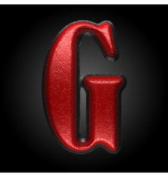 Red plastic figure g vector