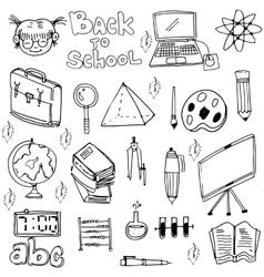 School education doodles set art vector image