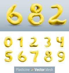 Set of color plasticine figure vector image vector image