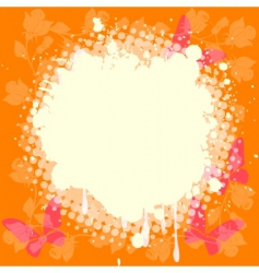 Splash on roses and butterflies vector