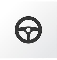 Steering wheel icon symbol premium quality vector