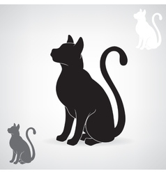 Stylized black silhouette of a cat vector