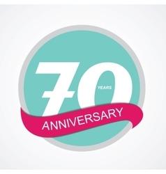 Template Logo 70 Anniversary vector image