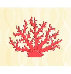 Underwater ocean and aquarium coral icon vector
