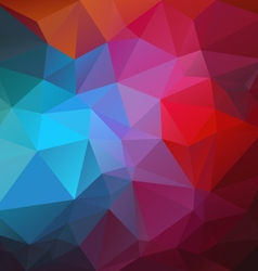 Vibrant red blue abstract polygon triangular vector