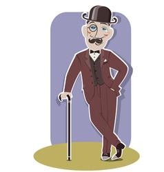Vintage gentleman vector image