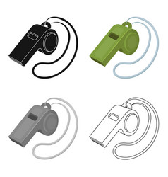 Whistle football fanfans single icon in cartoon vector
