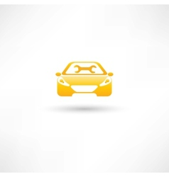 yellow front car vector image vector image