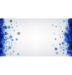 Winter background with blue snowflakes vector