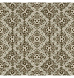 brown pattern in Gothic style vector image
