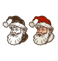 Christmas symbol portrait of funny santa claus vector