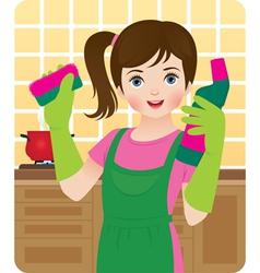 Little housewife vector image