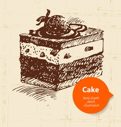 Vintage sweet cake background with color bubble vector