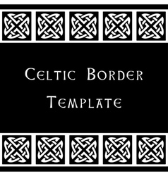 Celtic border template vector image