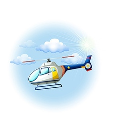 A helicopter in the sky vector