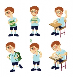 student boy vector image