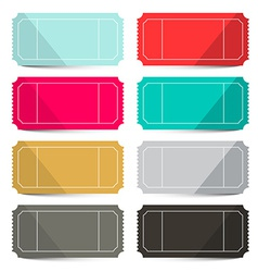 Retro empty tickets set isolated on white vector