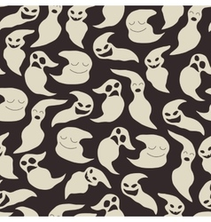Seamless pattern with cute cartoon ghosts vector