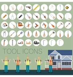 Repair tool icons vector