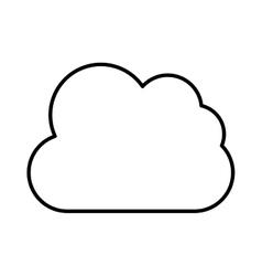 Lineal web cloud design vector