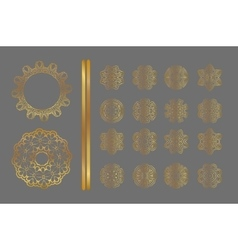 Abstract golden ornament vector image
