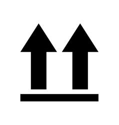Arrows side up icon vector